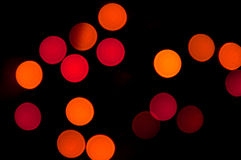 Fuzzy red circles Stock Images