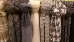 Fuzzy scarves Stock Photo