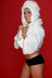 Fuzzy Snow Bunny Royalty Free Stock Photos