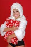 Fuzzy Snow Bunny Stock Photo