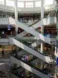 Fuzzy stairs,Central rama3shopping mall ,bangkok,thailand royalty free stock photos