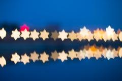 Fuzzy star shaped lights Stock Photo