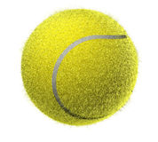 Fuzzy Tennis ball Royalty Free Stock Images