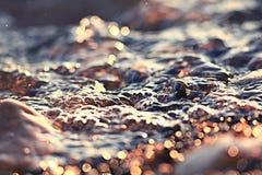 Fuzzy texture glare sea Stock Photography