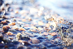 Fuzzy texture sea stones Royalty Free Stock Photo