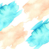 Fuzzy watercolor blots. Red and blue fuzzy watercolor blots on white background stock photography