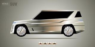 Fwd-Luxusauto Stockfotografie