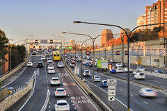 FWY Warring 2 Br Bus Lane Royalty Free Stock Images