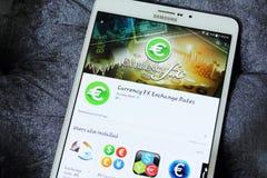 Fx app de la moneda Fotografía de archivo libre de regalías