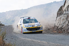 Fx Pro Cyprus Rally. Love Cyprus Stage. 2010 Royalty Free Stock Photo