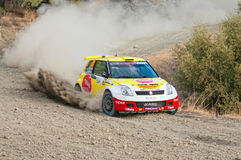 Fx Pro Cyprus Rally. Love Cyprus Stage. 2010. LIMASSOL, CYPRUS - NOVEMBER 7: Driver Karl Kruuda (ee) and co-driver Martin Jarveoja (ee) driving Suzuki Swift Stock Photos