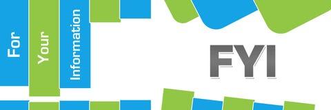 FYI - Forme astratte verde blu di For Your Information orizzontali illustrazione vettoriale