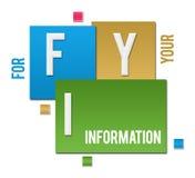 FYI - Testo variopinto dei quadrati di For Your Information illustrazione vettoriale