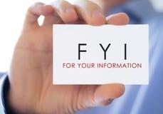 FYI Stock Photo