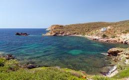 Fykiada海湾,基莫洛斯岛海岛,基克拉泽斯,希腊 库存图片