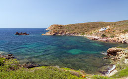 Fykiada bay, Kimolos island, Cyclades, Greece Stock Images