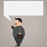 fyll på affärsmannen som den lätta redigerbara bilden säger din text Vektor Illustrationer