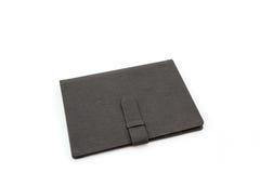 fyll på för fallframdelen för bakgrund din svart white för text för läder Fotografering för Bildbyråer