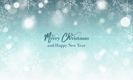 fyll på underkanten kan jul som lyckliga glada nya egeer för textwishes för bild spanskt år dig som är din Suddig bakgrund med sn royaltyfri illustrationer