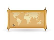 fyll världen för guldöversiktspapirusen Vektor Illustrationer