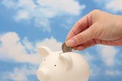 fylla på besparingar till Arkivfoton