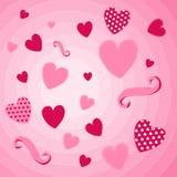 fylla på valentinen för text för kortdag den lyckliga perfekta s Royaltyfri Fotografi