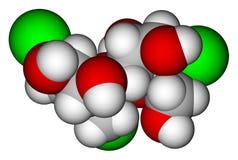 fyllande model molekylär avståndssucralose Arkivfoto