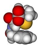 fyllande model molekylärt penicillinavstånd för G Arkivbilder