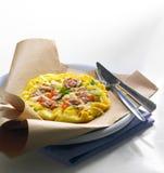 fyllande omelett Royaltyfri Fotografi