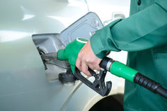 fyllande petrolstation Fotografering för Bildbyråer
