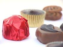 fylld choklad Arkivbild