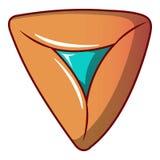Fylld ljusbrun symbol, tecknad filmstil stock illustrationer
