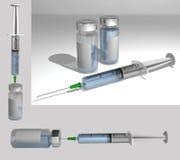 fyllda injektionssprutor Arkivfoton