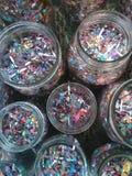 Fyllda Mason Jars Royaltyfri Foto
