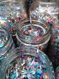 Fyllda Mason Jars Royaltyfria Foton