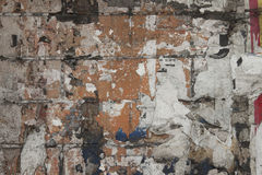 fyllda papper strimlade väggar Royaltyfri Fotografi