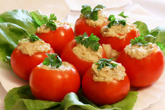 fyllda tomater Royaltyfri Fotografi