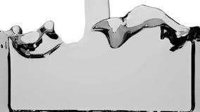 Fyller grått vätske för stordia upp skärmen, med den alfabetiska kanalen FULL HD stock illustrationer