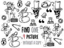 Fynd en bildande lek för bild vektor illustrationer