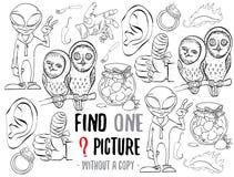 Fynd en bildande lek för bild stock illustrationer