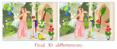 Fynd tio skillnader Arkivfoto