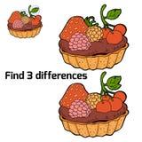 Fynd tre skillnader (kakan) Arkivbilder