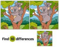 Fyndskillnader (koalan) Royaltyfria Bilder