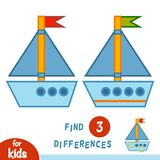 Fyndskillnader, yacht royaltyfri illustrationer