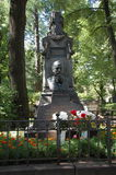 Fyodor Dostoevskys grave. In Saint Petersburg, Russia Royalty Free Stock Photo
