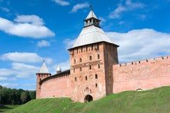 Fyodorovskaya tower - Novgorod Kremlin Stock Photography