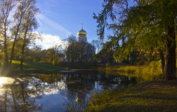 The Fyodorovsky Cathedral in Pushkin in late autumn Royalty Free Stock Photos