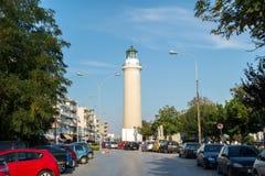Fyr av den Alexandroupolis staden Arkivbilder