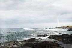 Fyr av den Punta hidalgoen i den Tenerife ön Royaltyfri Bild