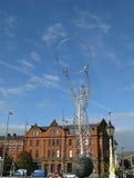 Fyr av hoppstatyn eller tacksägelsestaty i Belfast royaltyfri foto
